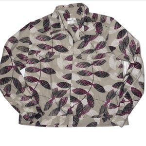Christopher and Banks stretch leaves jacket